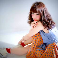 モテ髪 ロング ガーリー フェミニン ヘアスタイルや髪型の写真・画像