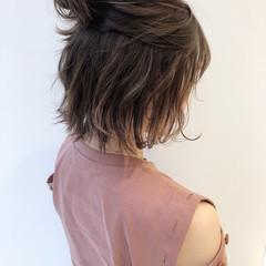 ボブ デート ナチュラル オフィス ヘアスタイルや髪型の写真・画像