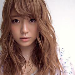 夏 ゆるふわ セミロング グラデーションカラー ヘアスタイルや髪型の写真・画像