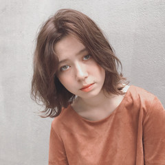 アンニュイ ボブ 外国人風 パーマ ヘアスタイルや髪型の写真・画像