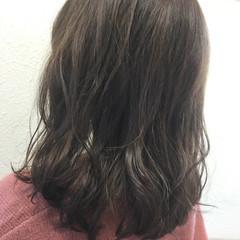 アッシュ ミディアム ストリート 黒髪 ヘアスタイルや髪型の写真・画像