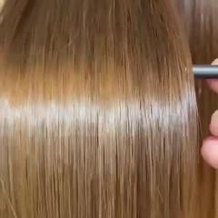 ダメージレス ナチュラル セミロング 艶髪 ヘアスタイルや髪型の写真・画像