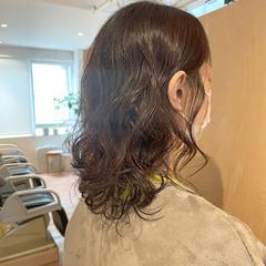 ボブ パーマ ナチュラル 無造作パーマ ヘアスタイルや髪型の写真・画像
