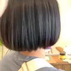 縮毛矯正 艶髪 ストレート ミニボブ ヘアスタイルや髪型の写真・画像