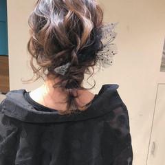 デート ナチュラル ヘアアレンジ 編みおろし ヘアスタイルや髪型の写真・画像