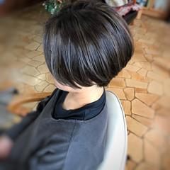 ストリート ハンサムショート 美髪 スライシングハイライト ヘアスタイルや髪型の写真・画像