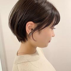 デート ショート ショートヘア ナチュラル ヘアスタイルや髪型の写真・画像