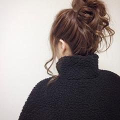 愛され ヘアアレンジ ガーリー フェミニン ヘアスタイルや髪型の写真・画像
