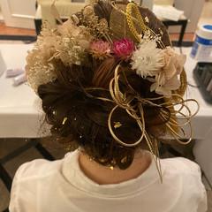 ロング 振袖ヘア エレガント 成人式ヘア ヘアスタイルや髪型の写真・画像
