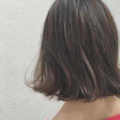 外ハネ ボブ ウェットヘア 外国人風 ヘアスタイルや髪型の写真・画像