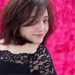 ボブ 女子力 モテ髪 ピンク ヘアスタイルや髪型の写真・画像