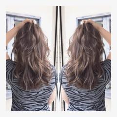 グラデーションカラー 透明感 ナチュラル ブリーチ ヘアスタイルや髪型の写真・画像