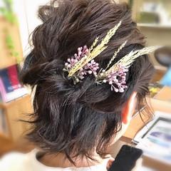 結婚式髪型 ヘアアレンジ ナチュラル 結婚式 ヘアスタイルや髪型の写真・画像