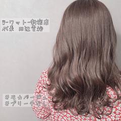 ブラウン ミルクティーブラウン ピンクブラウン アッシュブラウン ヘアスタイルや髪型の写真・画像