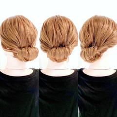 セルフヘアアレンジ 時短ヘア ヘアアレンジ フェミニン ヘアスタイルや髪型の写真・画像