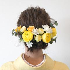 謝恩会 袴 ミディアム ヘアアレンジ ヘアスタイルや髪型の写真・画像