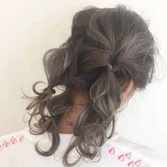 ミディアム 外国人風カラー パーティ ラベンダー ヘアスタイルや髪型の写真・画像