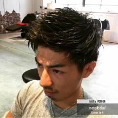 黒髪 ショート ウェットヘア ストリート ヘアスタイルや髪型の写真・画像