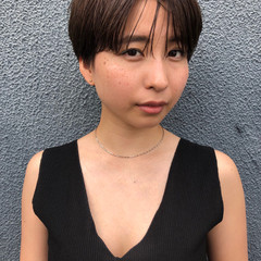 アンニュイ ラフ ショートボブ マッシュ ヘアスタイルや髪型の写真・画像