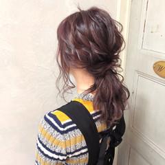 簡単ヘアアレンジ ポニーテール セミロング 大人かわいい ヘアスタイルや髪型の写真・画像