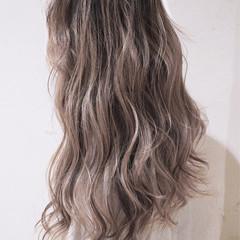 バレイヤージュ 外国人風カラー ローライト ガーリー ヘアスタイルや髪型の写真・画像