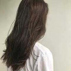 大人かわいい ロング 韓国ヘア 透明感カラー ヘアスタイルや髪型の写真・画像