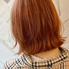 ボブ ガーリー ブリーチオンカラー アンニュイほつれヘア ヘアスタイルや髪型の写真・画像