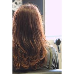 ピンク ロング グラデーションカラー 透明感 ヘアスタイルや髪型の写真・画像