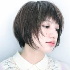 暗髪 ダークアッシュ 黒髪 秋 ヘアスタイルや髪型の写真・画像