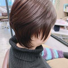 ショートヘア レイヤーカット ナチュラル ショート ヘアスタイルや髪型の写真・画像
