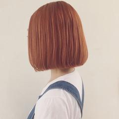 ストリート 外国人風 切りっぱなし レッド ヘアスタイルや髪型の写真・画像