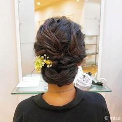 夏 お祭り フェミニン セミロング ヘアスタイルや髪型の写真・画像