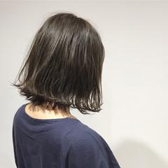 秋 透明感 アッシュ ハイライト ヘアスタイルや髪型の写真・画像