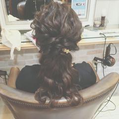 ヘアアレンジ ゆるふわ ショート 編み込み ヘアスタイルや髪型の写真・画像