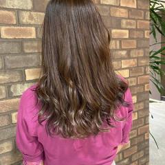透明感 イルミナカラー N.オイル セミロング ヘアスタイルや髪型の写真・画像