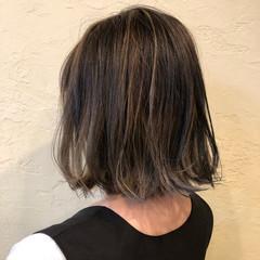 3Dハイライト 外国人風カラー ガーリー ボブ ヘアスタイルや髪型の写真・画像
