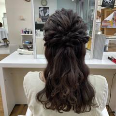 結婚式アレンジ ヘアアレンジ 簡単ヘアアレンジ ハーフアップ ヘアスタイルや髪型の写真・画像