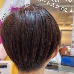 ミニボブ ショート ウルフカット ナチュラル ヘアスタイルや髪型の写真・画像
