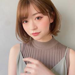 結婚式 ヘアアレンジ 切りっぱなしボブ 韓国ヘア ヘアスタイルや髪型の写真・画像