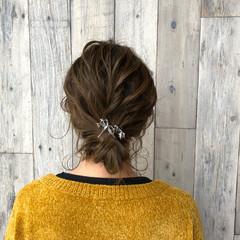 外国人風 ヘアアレンジ ハイライト エレガント ヘアスタイルや髪型の写真・画像
