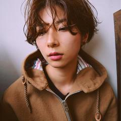 前髪あり 暗髪 パーマ 冬 ヘアスタイルや髪型の写真・画像