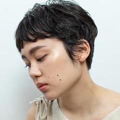 ナチュラル ショートパーマ ショートヘア ショート ヘアスタイルや髪型の写真・画像