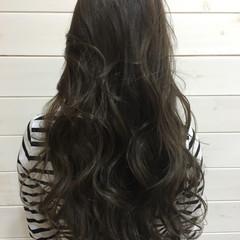 暗髪 ナチュラル ロング 外国人風 ヘアスタイルや髪型の写真・画像