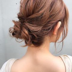 簡単ヘアアレンジ エレガント ヘアセット 結婚式ヘアアレンジ ヘアスタイルや髪型の写真・画像