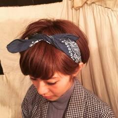 ヘアアレンジ ガーリー 夏 バンダナ ヘアスタイルや髪型の写真・画像