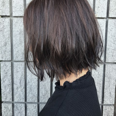 バレイヤージュ ボブ ウェーブ ストリート ヘアスタイルや髪型の写真・画像