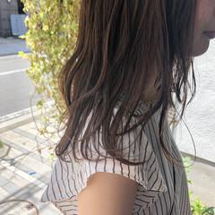 ロブ ナチュラル セミロング ヘアアレンジ ヘアスタイルや髪型の写真・画像
