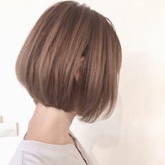 ボブ 秋 オフィス 透明感 ヘアスタイルや髪型の写真・画像
