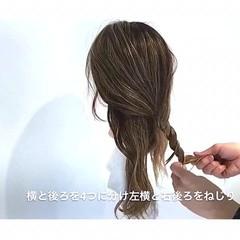 リラックス オフィス セミロング アウトドア ヘアスタイルや髪型の写真・画像