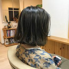 アッシュ 秋 デート 透明感 ヘアスタイルや髪型の写真・画像